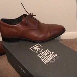 Stacy Adams Rochester Tan Dress Shoes